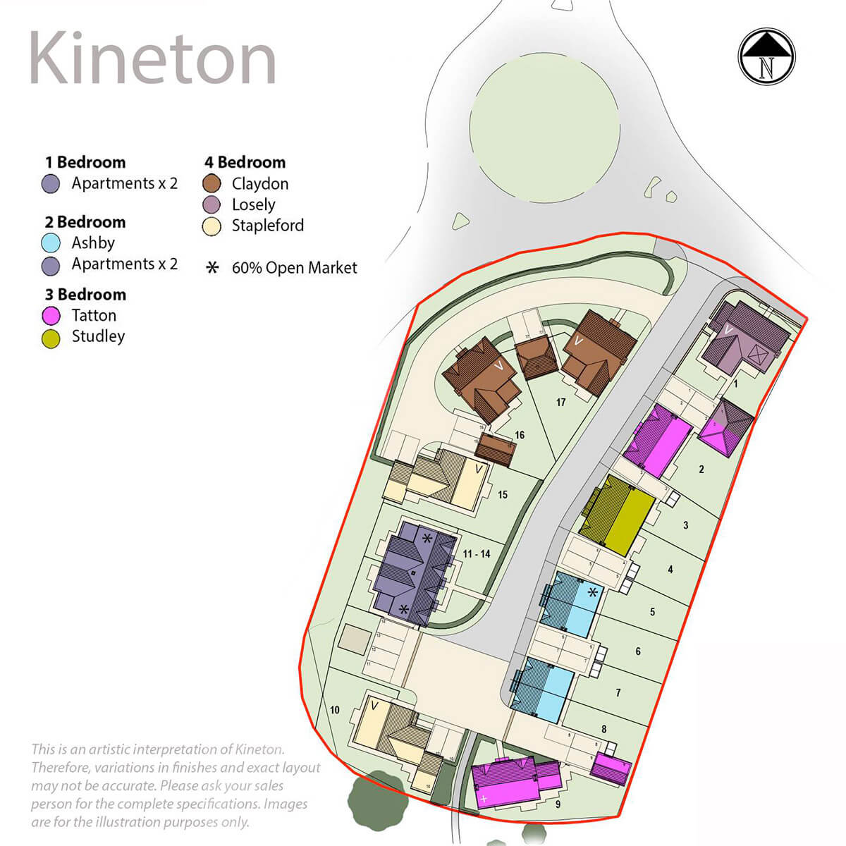 Kineton Mews Site Plan