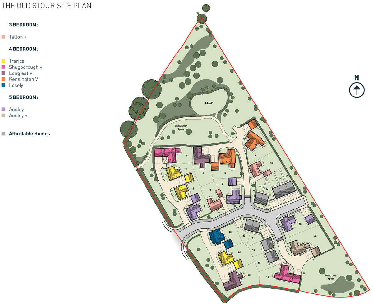The Old Stour Site Plan